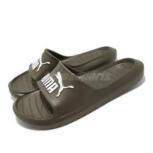 Puma Divecat V2 Olive Green Men Unisex Summer Slip On Sandal Slides 369400-22
