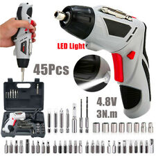 Mini Cordless Electric Screwdriver Rechargeable Lithium Tool Kit Bit Set Charger