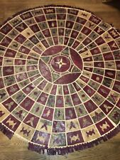 """64"""" Authentic African Python Snake Skin Hide Patchwork Rug Round Leather"""