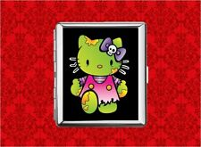 HELLO ZOMBIE KITTY METAL WALLET CARD CIGARETTE ID IPOD CASE