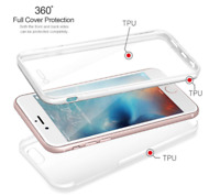 Luxury Ultra Light Slim Shockproof Hybrid Silicone 360 Case Cover for iPhone 8