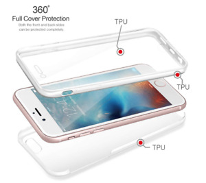 Luxury Ultra Slim Shockproof Hybrid Silicone 360 Case Cover for iPhone 7 Plus