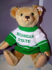 Steiff Sale Anno Teddy Bear goes to the Michigan State game 14 inches Us Edition