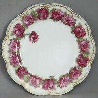 "Haviland Limoges Drop Rose 6.25"" Bread Plate Porcelain Pink Schleiger 55 as is"