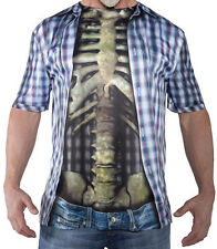 HALLOWEEN ADULT  PHOTO REAL SHIRT SKELETON  PROP DECORATION HAUNTED HOUSE