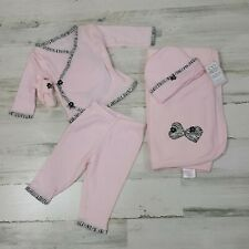 Too Sweet Haute Baby  Boutique 4 Piece Set Baby Girl Pink Size 3M Cotton