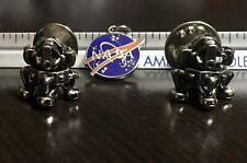 NASA Lot Of 2 Silver Modules 1 Silver Plated Pendant NOS