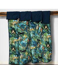 Opalhouse Quilt Full Queen Safari Animal Panther Jungle Velvet Tufted Green