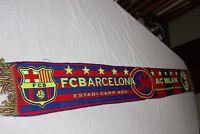BUFANDA DE CHAMPIONS LEAGUE ENTRE F.C BARCELONA Y AC MILAN VINTAGE  SCARF