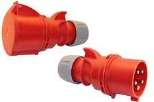 SET CEE Kupplung und Phasenwender 32A 5-polig 6h 400 V Starkstrom Stecker PCE