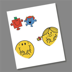 Mr Men and Little Miss £5 Coin Coloured Decal Stickers