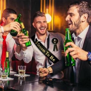 Mens Groom to Be Husband Stag Party Do Night Sash Accessory Gift Hen Bachelor