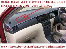 DASH MAT, DASHMAT FIT TOYOTA COROLLA 2002-2006,SEDAN + HATCH BACK, BLACK