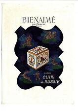 """Annonce originale de 1940 PARFUMEUR BIENAIME """"Cuir de Russie"""" ~ 27x37 cm ~ FN244"""