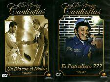 UN DIA CON EL DIABLO & PATRULLERO 777*Cantinflas* NEW DVD'S FULLSCREEN(ESPANOL