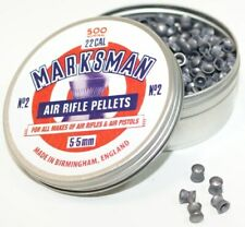 MARKSMAN .22 / 5.5MM DOMED ROUND LEAD PELLETS CHOOSE QUANTITY FAST POST