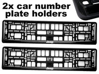 2 x Doming CAR Number Plate Surround Holder Frames BEST FIT for JEEP