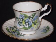 Vintage Rosina Lily of the Valley Fine Bone China Tea Cup & Saucer Set England