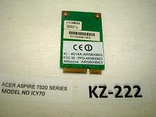 Acer Aspire 7520 série wlan-Carte Mini #kz-222