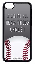 Baseball Bible Verse Saying Sport Black/White Case Cover For Apple iPod 4 5 6
