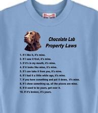 Dog Tee T Shirt - Chocolate Lab Property Laws - Men Adopt Rescue Animal  # 41