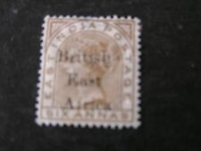 BRITISH EAST AFRICA, SCOTT # 71, 6a. VALUE BISTER QV  OVPT 1895 ISSUE MH