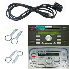 CD MP3 Aux In Cable Adapter w/ Radio Removal Tool for Ford Fiesta Focus Mondeo