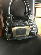 next handbag black snake design double handles outer pocket polyurethane used