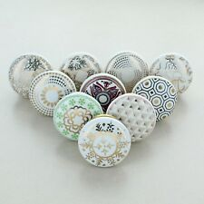 G Decor Set of 10 Royal Ceramic Door Knobs Vintage Shabby Chic Cupboard Drawer