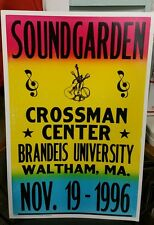 SOUNDGARDEN...Block Print Concert Poster WALTHAM M.A.