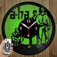 LED Vinyl Clock A-ha LED Wall Art Decor Clock Original Gift 3776