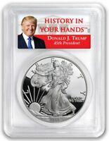 2018 W Silver Eagle Proof PCGS PR69 First Strike - Donald Trump Label