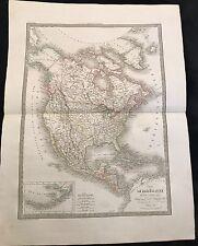 CARTE DE L'AMÉRIQUE SEPTENTRIONALE 1830
