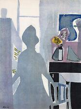 """Francisco BORES ORIGINAL 1952 Lithograph """"La Femme En Bleu"""" SIGNED Framed COA"""