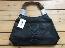 ORLA KIELY EMBOSSED STEM LEATHER CLASSIC SHOULDER BAG. BRAND NEW WITH TAGS.