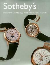 Sotheby's 7814  Wristwatches Watches & Clocks Patek Auction Catalog 2002