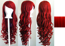 29'' Long Curly w/ Long Bangs Scarlet Red Cosplay Wig NEW
