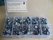 200pcs 10value Trimpot Trimmer Pot 6mm Variable Resistor Assortment Box Kit