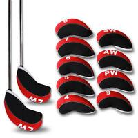 12x Neoprene Golf Wedge Iron Head Covers Club Protect Set F Taylormade Callaway