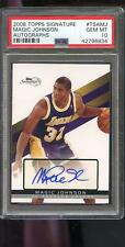 2008 Topps Signature Magic Johnson Signed AUTO Autograph GEM PSA 10 Graded Card