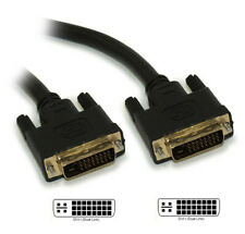 10ft DVI-I Dual Link DIGITAL/ANALOG (28 AWG) Male to Male Gold Plated Cabl