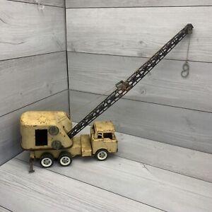 "Rare Vintage 1960 Structo Toys ""Mobile Crane"" Pressed Steel Crane Truck."