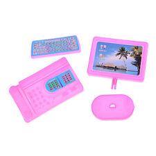 Kid Dollhouse Miniature Pink Modern Piece Computer Furniture For Barbie Doll VP
