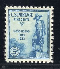 US STAMP #734 5c KOSCIUSZKO - XF - MINT - GRADED 90