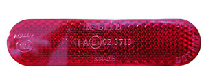 Red Number Plate Rear Reflector Self Adhesive Stick On Motorcycle Bike MOT