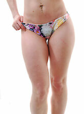 Wildfox Women's Fairy Wall Brazilian Bikini Bottom Multi RRP £43 BCF65