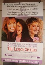 THE LEMON SISTERS ~1989 Movie Poster~ Diane Keaton, Carol Kane