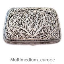 Silber Draht Zigaretten Etui Dose filigran silver cigarette case box 🌺🌺🌺🌺🌺