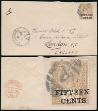 Handstamped British Colony Cover Stamps