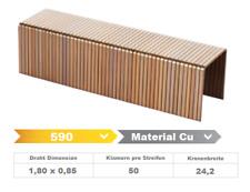 Heftklammer 590/38 CU - 10.000 Stück